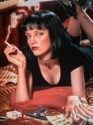 Uma Thurman - Pulp Fiction by Nick Holdsworth -  sized 47x35 inches. Available from Whitewall Galleries